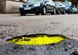 В Калуге появились раскрашенные ямы на дорогах