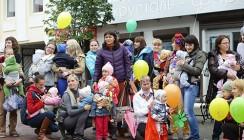 Калужские слингородители устроили парад на «Театральной»