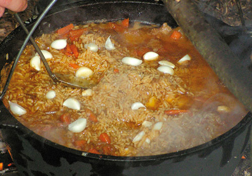 Плов из баранины рецепт пошаговый с в казане на костре