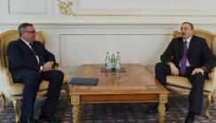 Глава ВТБ встретился с президентом Азербайджана Ильхамом Алиевым